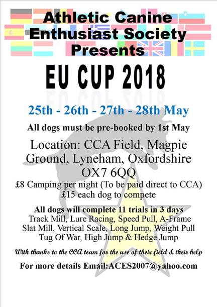 Athletic Canine Enthusiast Society EU CUP 2018